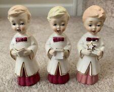 Vintage Christmas Church 1950's Choir Boys Girls Children Neidco Japan Figurines