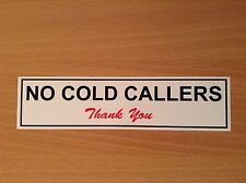 2X No Cold Callers Stickers Signs