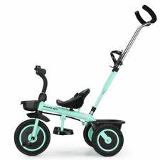 Fascol Dreirad 2in1 Kinderdreirad Kinder Lenkstange Fahrrad Baby Kinderwagen DE
