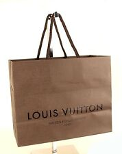 100% Auth Louis Vuitton 5pc set Paper bag store bag brown for present wrapping