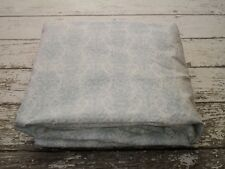 RALPH LAUREN Dusty Blue Toile Fitted Sheet Full Size Floral Steel Blue White EUC