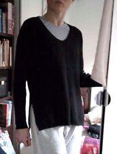 Gap Black Wool Jumper Soft Warm Scoop Neck Side Split Box size 10 12 M