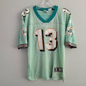 Rare VTG Starter NFL Miami Dolphins Dan Marino 13 Acid Wash Jersey Youth L