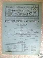 1947 League Division II WEST HAM UNITED v CHESTERFIELD, 18th January, Rare