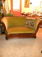 MAKE OFFER Early 1700's Antique French Regence' Sofa Circassian Walnut