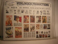 Verlinden Production 1/35 WWII  Newspapers poster instruction portraits diorama