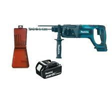 Makita DHR241 18V Li-ion  Rotary Hammer Drill + Bosch SDS Plus Bit Set + BL1830