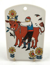 Vintage Stavangerflint (Norway) Per Spelmann Norwegian Folksong Plaque/Trivet