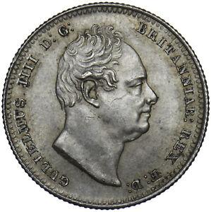 1836 SHILLING - WILLIAM IV BRITISH SILVER COIN - SUPERB