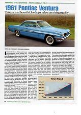 1961 PONTIAC VENTURA -  GREAT AMERICAN COLLECTIBLES ARTICLE / AD