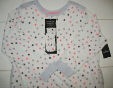 CUDDL DUDS - XXL - NEW - POLKA DOT - 2 PC.  NIGHTGOWN WITH MATCHING HEADBAND