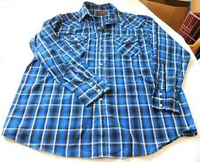Wrangler Mens long sleeve Western snap up shirt plaid L large EUC pre-owned
