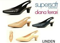 New Supersoft shoes by Diana Ferrari low heel sling backs leather Linden 2