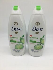 DOVE Refreshing Body Wash ~ Cucumber & Green Tea ~ Lot of 2 ( 22 oz. each)