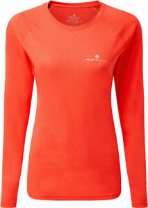 Ronhill Core Long Sleeve Womens Running Top - Orange Hot Coral