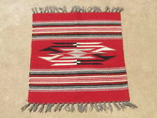 """Excellent Vintage Red Ground  Chimayo Weaving Rug Mat 19x23.5 """""""