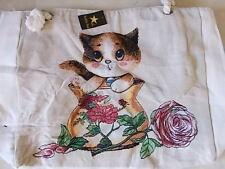 Strandtasche, mit XXL Gobelin Motiv, Tasche Einkaufstasche Shopper Katze