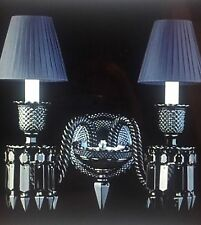 BACCARAT Zenith Black Noir Midnight Crystal 2 light Sconces Philippe Stark PAIR!