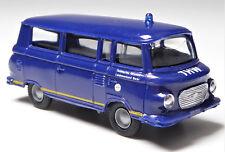 H0 Kleinbus Barkas B 1000 KB THW Landesverband Berlin DDR Blaulicht # 14101341