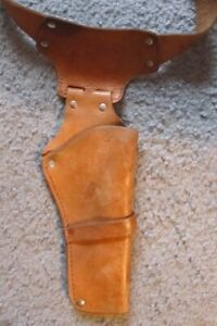 Vintage Mattel Fanner 50 Leather Holster and gun Belt with 4 Cartridge Loops