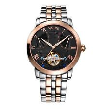 Mistre Automatic Mechanical Tourbillion Watch Day Date Function Butterfly Clasp