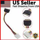 SATA Power Male to Molex Female Adapter Converter Cable 6 Inch 4-Pin 15-Pin USA