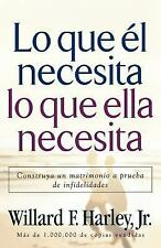 Lo Que él Necesita, lo Que Ella Necesita : Construya un Matrimonio a Prueba...