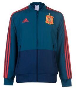Adidas Spagna Pensiero Caldo Up Hymnen Giacca 2018 Blu Rosso Tutte Misure Nuovo