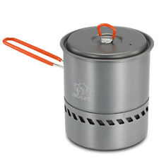1.5L Outdoor Cook Pot Cooking Equipment Tools Portable Hiking Camping T0F2
