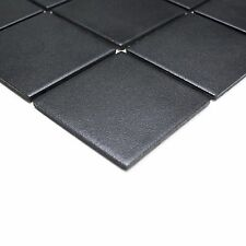 Quadrat uni schwarz rutschhemmend R10B 10x10 Mosaik