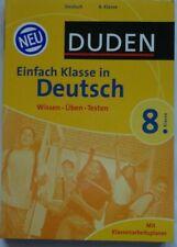 Duden Buch Einfach Klasse in Deutsch. 8. Klasse Mit Klassenarbeitsplaner NEU