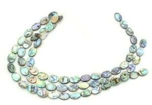 Abalone Oval Coin Beads Pearl Shell For Jewelry Crafting 3 Strand