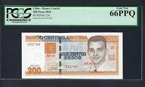 North America 200 Pesos 2010 P130 Uncirculated Grade 66