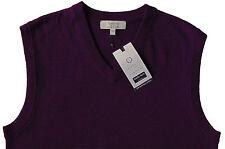 Men's TURNBURY Heather Purple Wool Sweater Vest Small S NEW NWT BIELLA