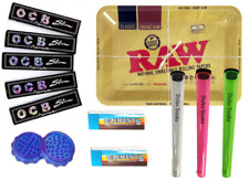RAW MINI TRAY KIT OCB BLACK ROLLING PAPERS ELEMENT TIPS HOLDERS GRINDER SMOKING