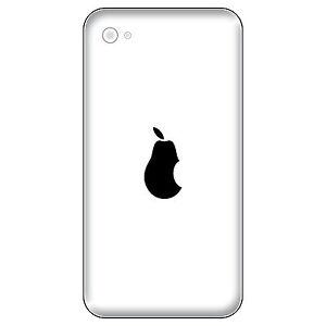 8 Aufkleber Tattoo 2,7cm schwarz Birne Apple verarsche Handy die cut Deko Folie