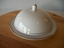 ROYALTON CHINA GOLDEN ELEGANCE PORCELAIN WHITE GOLD BUTTER DISH VINTAGE