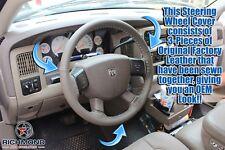 2005-2007 Dodge Dakota-Genuine Leather Wrap Steering Wheel Cover, Dark Khaki Tan