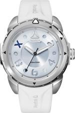 REEBOK Impact White Woman Watch, 39.9, SS case, White Silicone, Silver/Blue dial