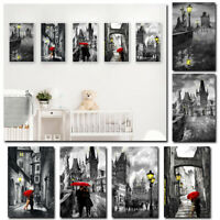 Rain Couple Art Wall Painting Canvas Frameless Printing Picture Home Deco MQH