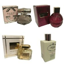 Womens Miniature Mini Travel Perfume x4 Prada Gucci Jimmy Choo Jean Patou