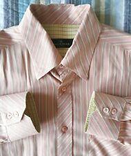 Bugatchi Uomo Mens Sz L Hidden Button Down Shirt Modal Rayon and Polyester EUC