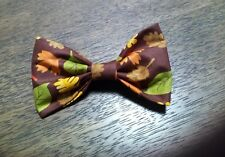 Mens! Festive Fall Leaves Bowtie Bow Tie Clip-on Handmade in USA!