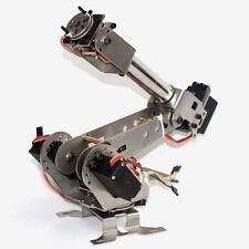 New DIY 6DOF Aluminum Robot Arm 6 Axis Rotating Mechanical Robot Arm Kit