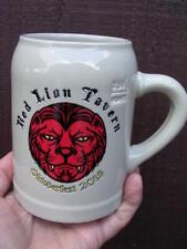 "New listing 5 1/8"" Red Lion Tavern Stein red lion face Oktoberfest 2018 Ce M18 0113 Sahm"
