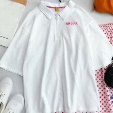 Women's Loose T-shirt Tops Milk Box Graphic Short Sleeve Blouse Japanese Kawaii