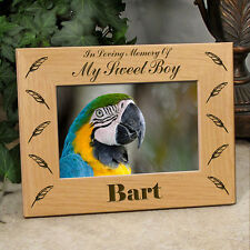 Personalized Bird Memorial Frame - In Loving Memory Of My or Our Sweet Boy
