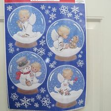 Window Clings - Angels in Snow globes