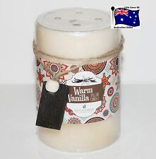GOOSE CREEK CANDLES * Warm Vanilla * 10cm Tall Scented Pillar Candle *