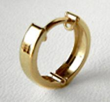 ECHT GOLD ***  Kleine Herren Single- Creole Ohrring 12 mm
